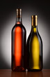 Two Wine Bottles Backlit