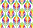 Seamless patterns with colorful abstract leaves. Vector set.