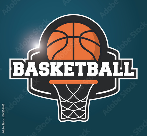 obraz PCV Basketball icon design