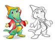 Obrazy na płótnie, fototapety, zdjęcia, fotoobrazy drukowane : Fantasy mascot crocodile cartoon