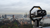 Binoculars for tourist at the Euromast tower, The Netherlands