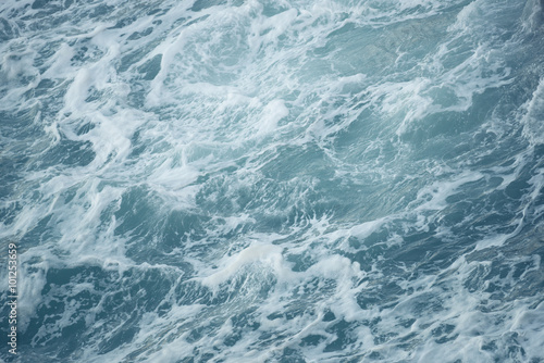 Poster waves in rough choppy winter sea