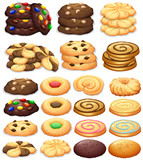 Fototapety Different kind of cookies