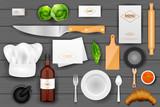 Identity branding mockup for chef