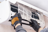 cleaning and repairs the air conditioner - 101268657