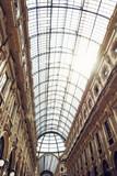 Galleria Vittorio Emanuele II in Milan city, Italy