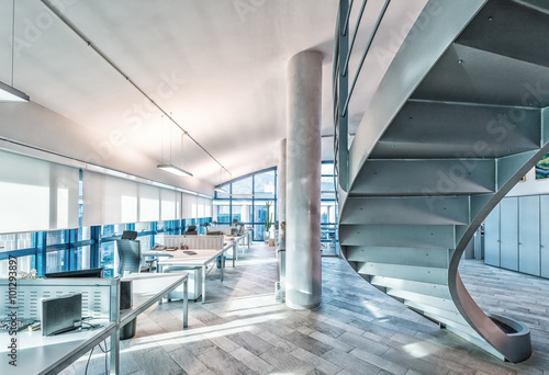 Foto Murales Interior of a company modern office