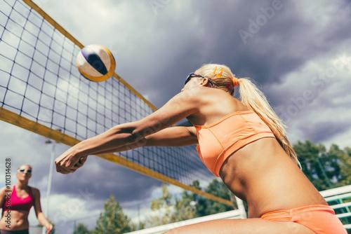 Fototapeta Beach volleyball detail