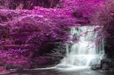 Beautiful alternate colored surreal waterfall landscape - 101321659