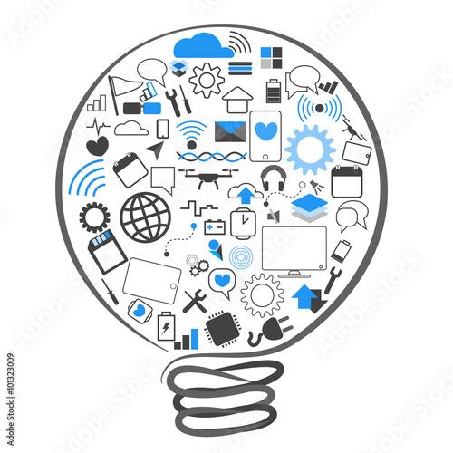 vectors symbol lamp ideas technology © raccoondaydream