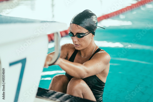 Poster, Tablou Backstroke swimming race start