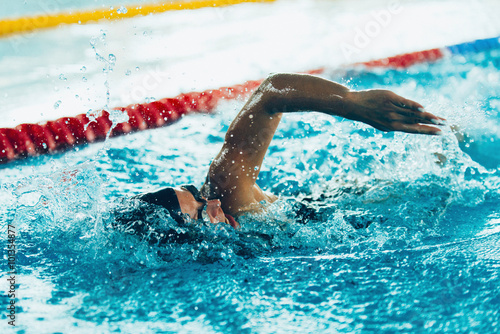 Poster Freestyle swimming sprint