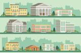 Flat vector buildings.