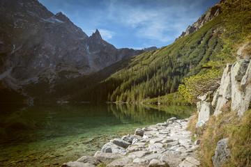 Morskie Oko pond in polish part of Tatra mountains