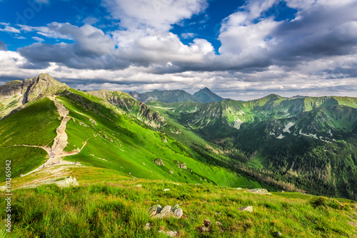 Tatra Mountains peaks in sunny day