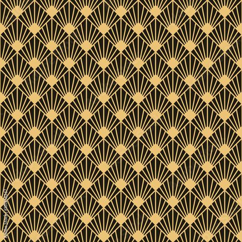 Fototapeta Art Deco style seamless pattern texture
