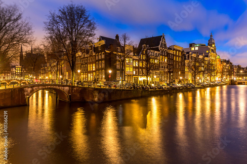 Plakát, Obraz Amsterdam kanály Nizozemsko