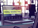 Fototapety Video Marketing Concept on Laptop Screen.