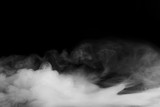 Fototapety Abstract fog or smoke move on black color background