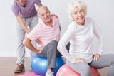 Senior couple on gym