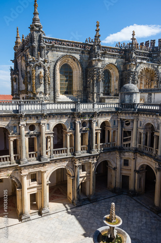 Renaissance Cloister of John III in the Convent of Christ in Tomar Poster