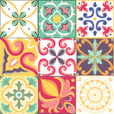 Seamless pattern in Italian style. Vector bright background