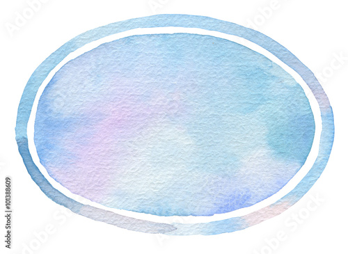 Plexiglas Geschilderde Achtergrond Ellipse watercolor painted background.