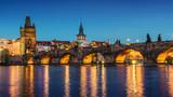 Prague at dusk; Czech Republic - 101394272