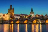 Prague at dusk; Czech Republic - 101394286