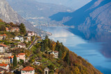 Panoramic view on Monte Bre, Lugano, Switzerland