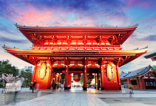 Fotobehang Tokio Tokyo - Japan, Asakusa Temple