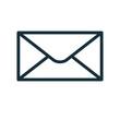 envelope icon flat transparent closed