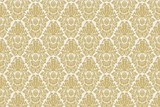 Damask Floral Decorative Vector Seamless Background Texture