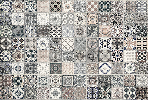 ceramic tiles patterns from Portugal. - 101477012