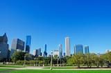 Chicago, Illinois: skyline visto da Grant Park, 22 settembre 2014
