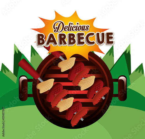 Fototapeta delicious barbecue design