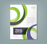 Fototapety Abstract round circle shapes background for business annual report book cover