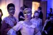 Obrazy na płótnie, fototapety, zdjęcia, fotoobrazy drukowane : Beautiful ladies celebrating carnival