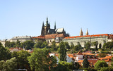 Panoramic view of Hradcany in Prague. Czech Republic