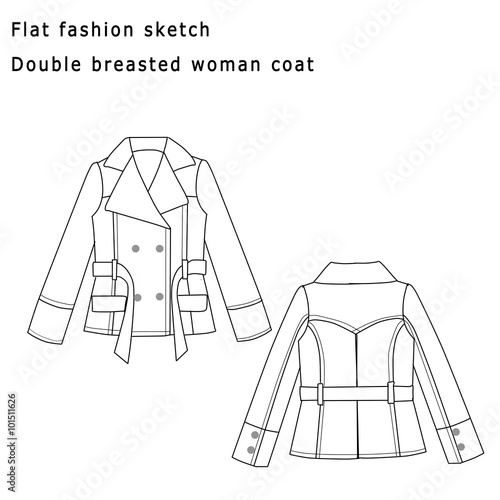 Fashion Flat Sketch Template
