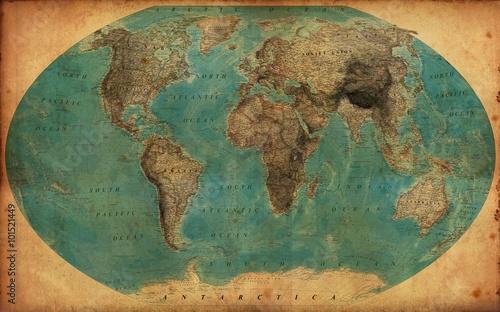 Fototapeta vintage map