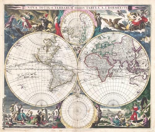 vintage map - 101521464