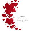 Obrazy na płótnie, fototapety, zdjęcia, fotoobrazy drukowane : Vector Illustration of a Valentines Day Card