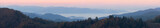 Clouds Floating beneath Smoky Mountain Peaks - Panorama