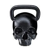 Kettlebell skull metal / 3D render of heavy skull shaped kettlebell
