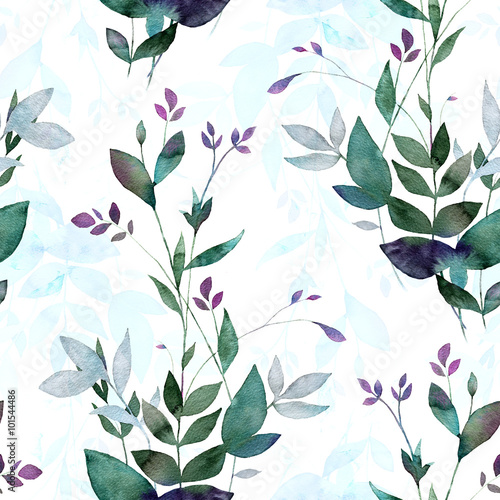 Abstract background base on watercolor painting. Hand drawn seamless pattern. - 101544486