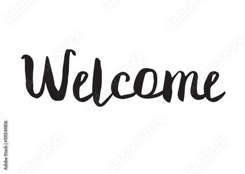 Welcome плакат