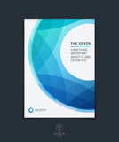 Abstract blue layout brochure, magazine, flyer design, cover or