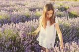 Little girl in a field of lavender
