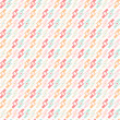Geometric abstract pastel seamless pattern on white background